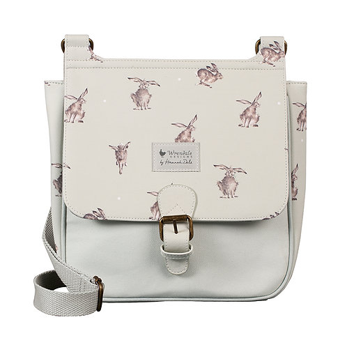 Wrendale Designs Leaping Hare satchel bag front view