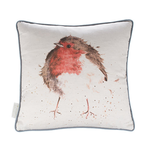 Wrendale Designs-The Jolly Robin Cushion-Front