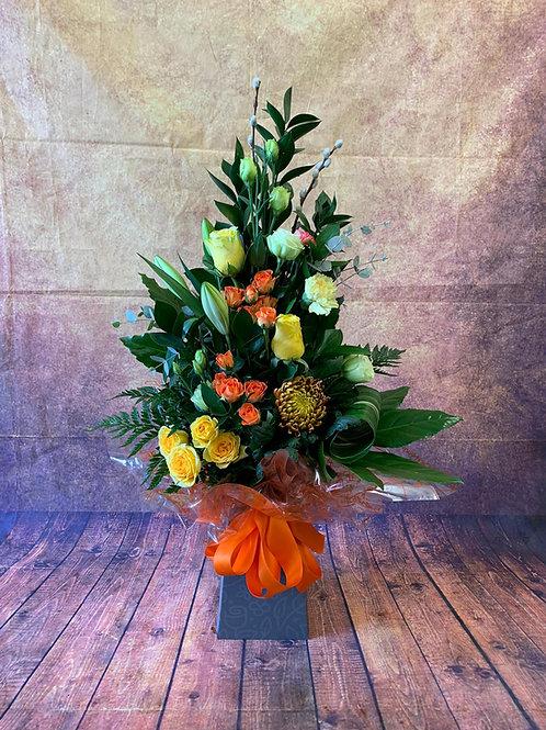 Tall Aqua Flower Bouquet