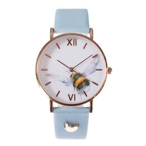 """""""Flight of the Bumblebee"""" Leather Watch"""