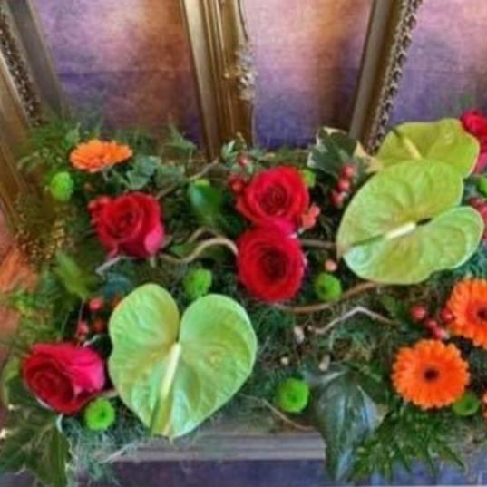 Funeral Wreaths, Hearts + Cushions 011