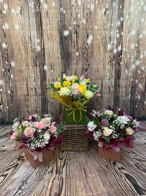 Mixed Tulip Aqua Bouquet