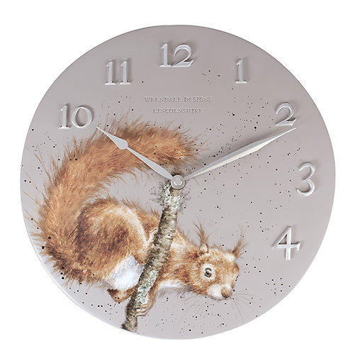 """The Acrobat"" Squirrel Clock"