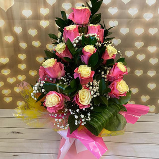 marshmallow Rose Bouquet 039