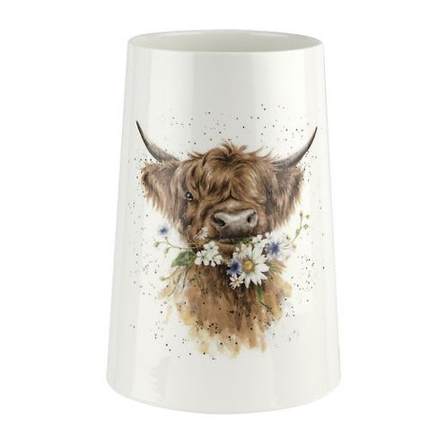 Wrendale Designs Daisy Coo Large Vase Front View