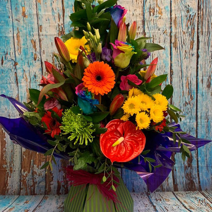 Big Bright Colourful Aqua Flower Bouquet.jpg