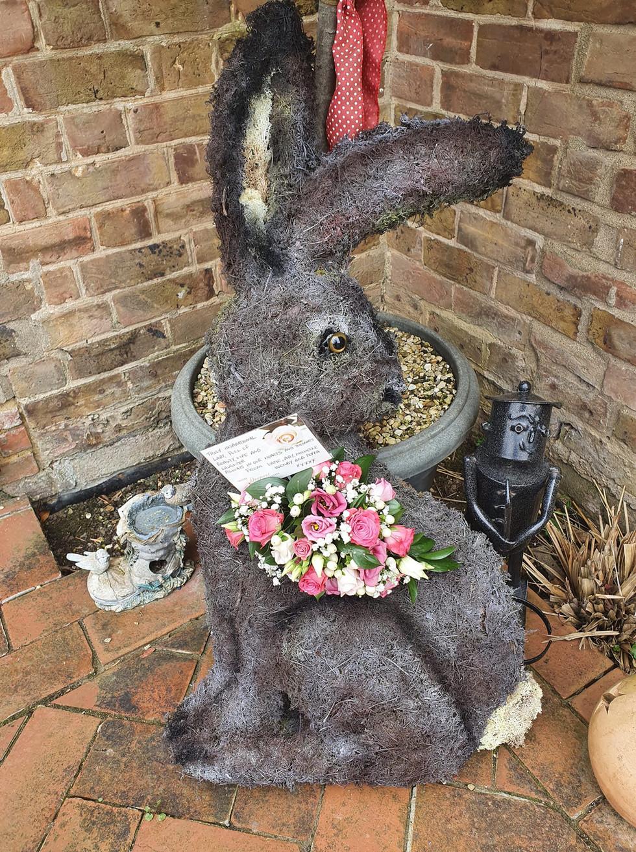 bespoke hare funeral flower tribute.jpg
