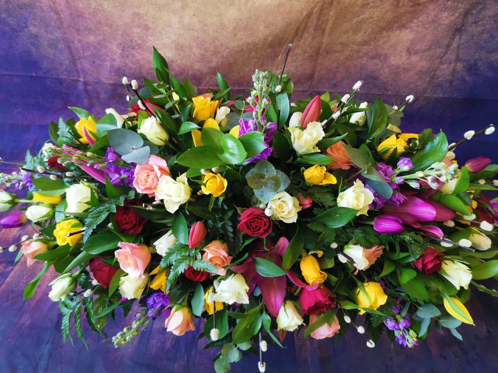 Double Ended Coffin Spray Funeral Flower Tribute Example 7.jpg