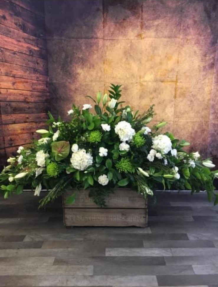 Double Ended Coffin Spray Funeral Flower Tribute Example 12.jpg