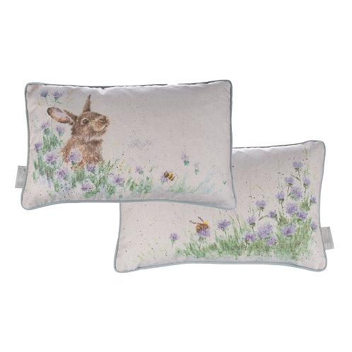 """Meadow Rabbit"" rectangular cushion"