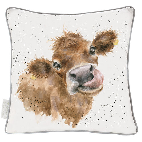 Wrendale Designs Large Moo Cushion Front Free delivery from the flower shop kirton