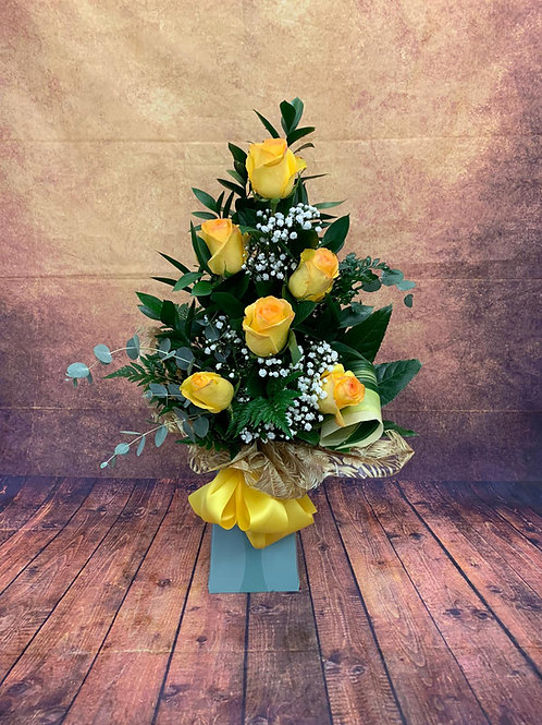 6 Rose Aqua Bouquet