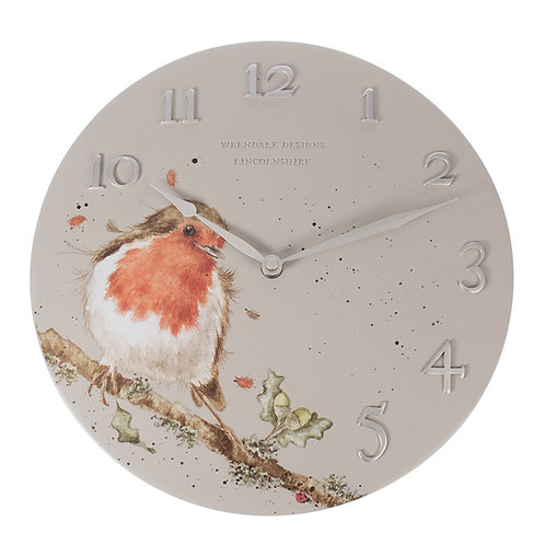 """Woodland Robin"" Wall Clock"
