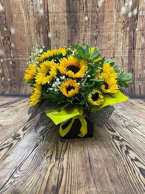 Sunflower Aqua Flower Bouquet