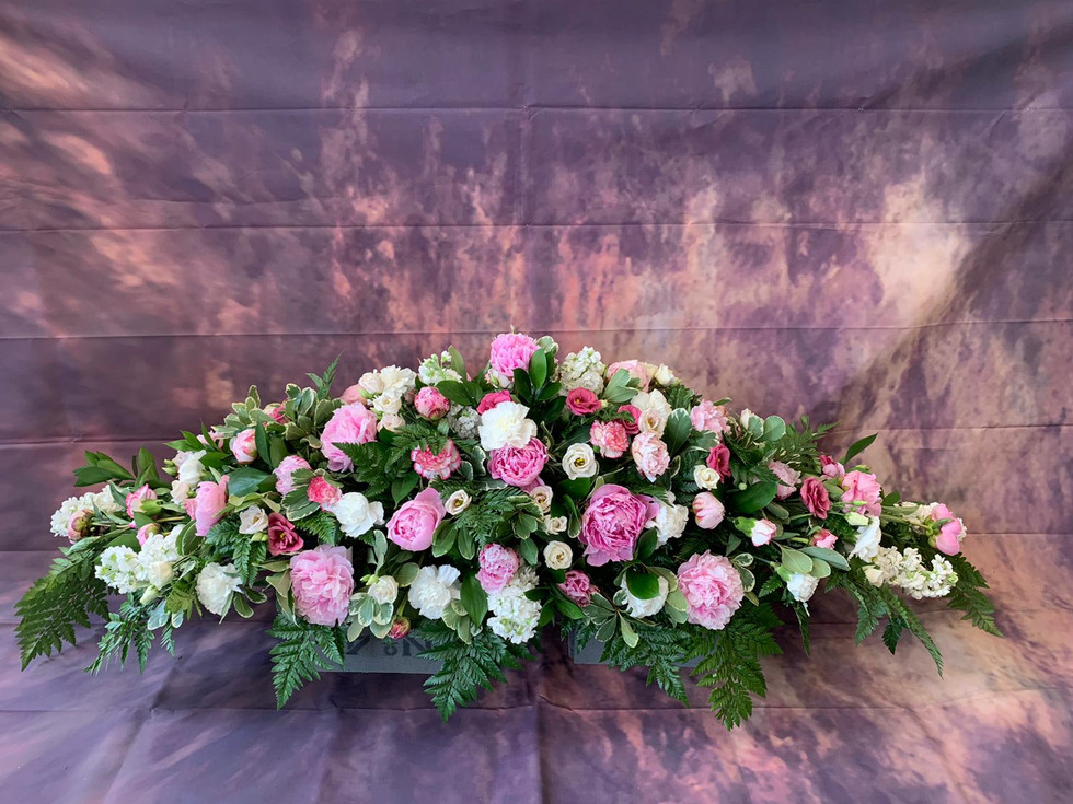 Double ended Coffin Spray Funeral Flower Tribute Example 2.jpg