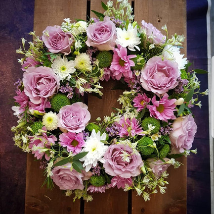 Funeral Wreaths, Hearts + Cushions 032