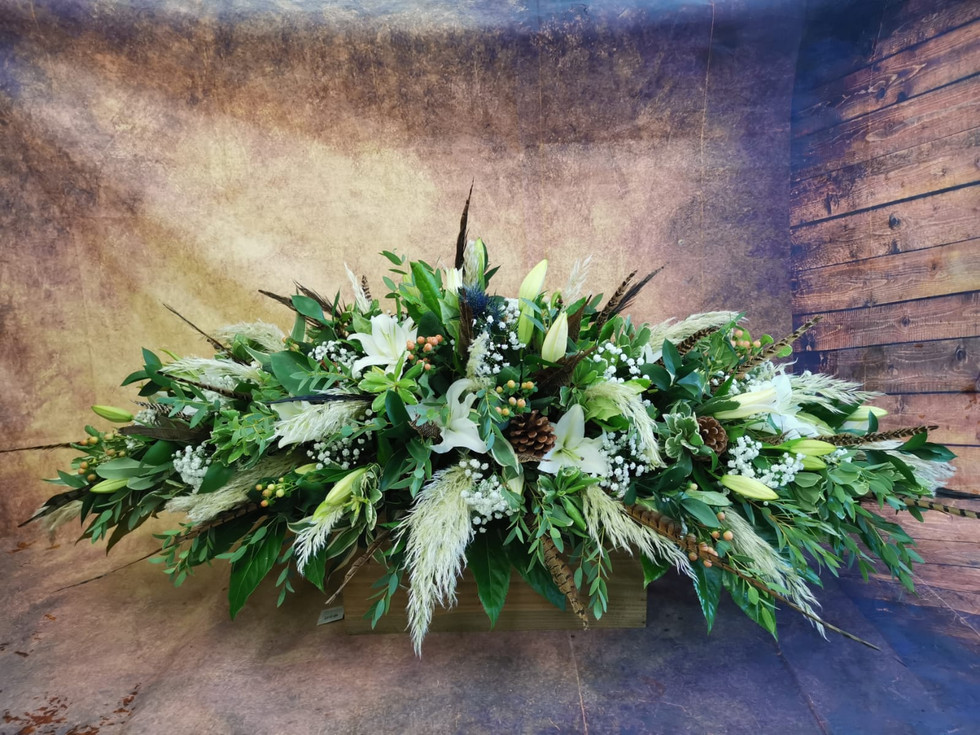 Bespoke Double Ended Coffin Spray Funeral Flower Tribute.jpg