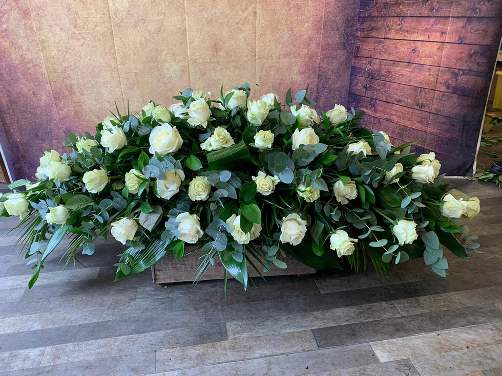 Double Ended Coffin Spray Funeral Flower Tribute Example 8.jpg