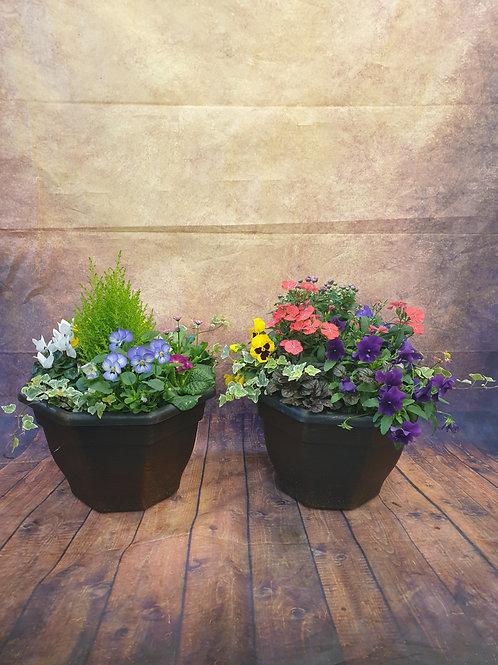 Pair of Large Seasonal Outdoor Planters