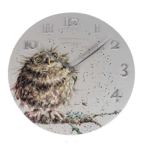 Wrendale Designs Owl Wall Clock