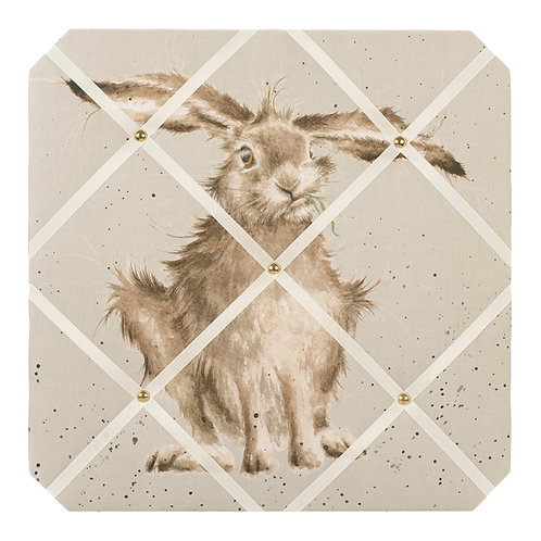"""Hare-Brained"" fabric notice board"