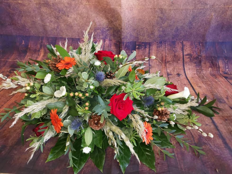Bespoke Single Ended Coffin Spray Funeral Flower Tribute.jpg