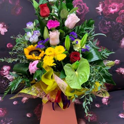 colourful tall aqua flower bouquet.jpg