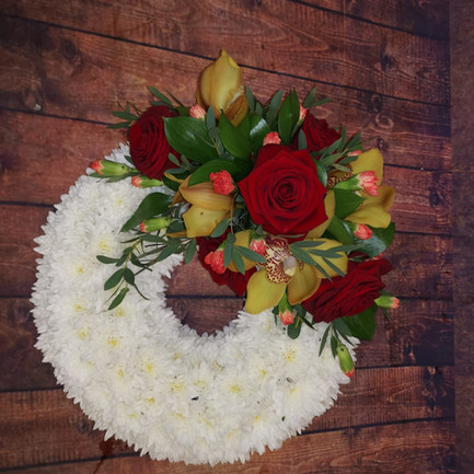 Funeral Wreaths, Hearts + Cushions 027