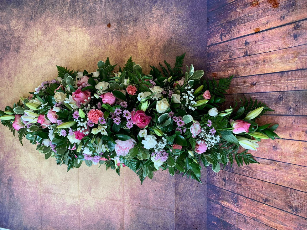 Double Ended Coffin Spray Funeral Flower Tribute Example 3.jpg