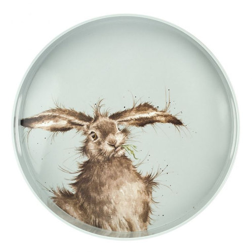 Wrendale Designs hare brained round tray Free delivery from the flower shop kirton