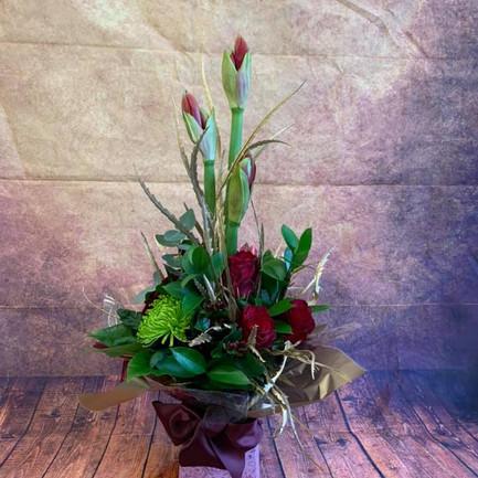 Tall orchid aqua flower bouquet.jpg
