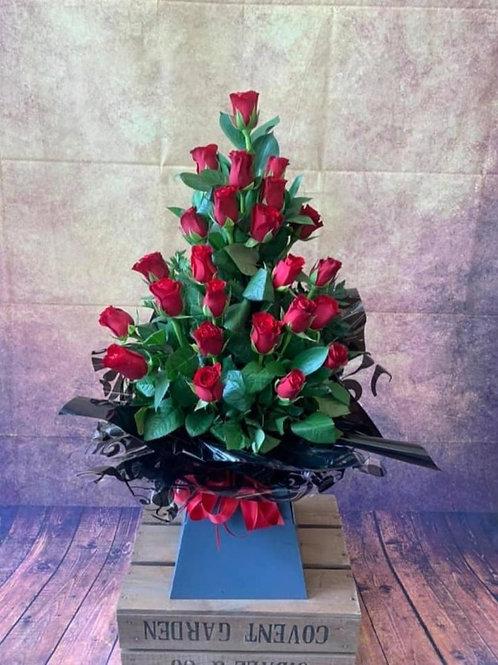 24 Rose Aqua Bouquet