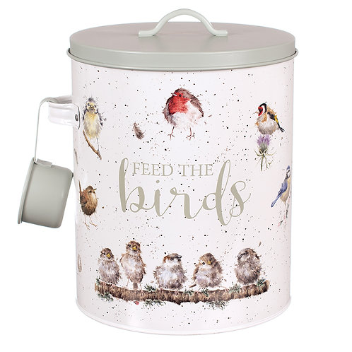 Wrendale Designs Feed the Birds Tin Front View Free delivery from the flower shop kirton