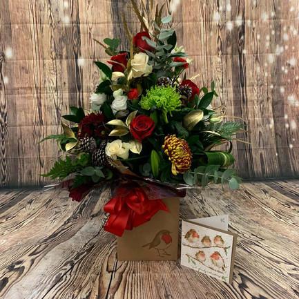 Christmas Aqua Flower Bouquet3.jpg