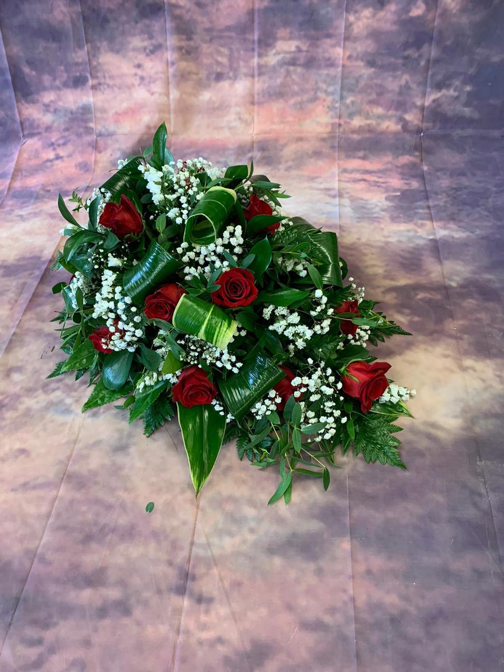 Single Ended Red Rose Coffin Spray Funeral Flower Tribute.jpg