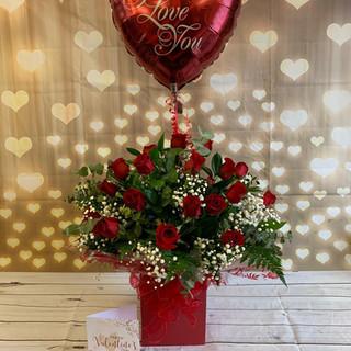 24 red rose valentine