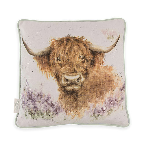 Wrendale Designs-Highland Heathers Cushion-Front