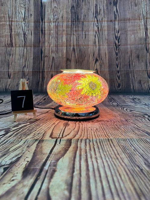 Electric Mosaic Ellipse Wax Melt Burner