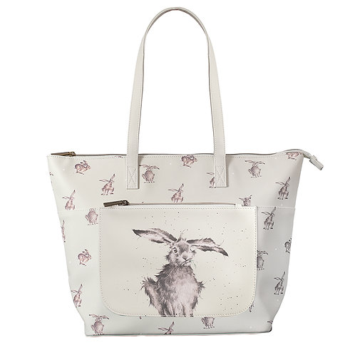 Wrendale Designs Leaping Hare everyday bag front view