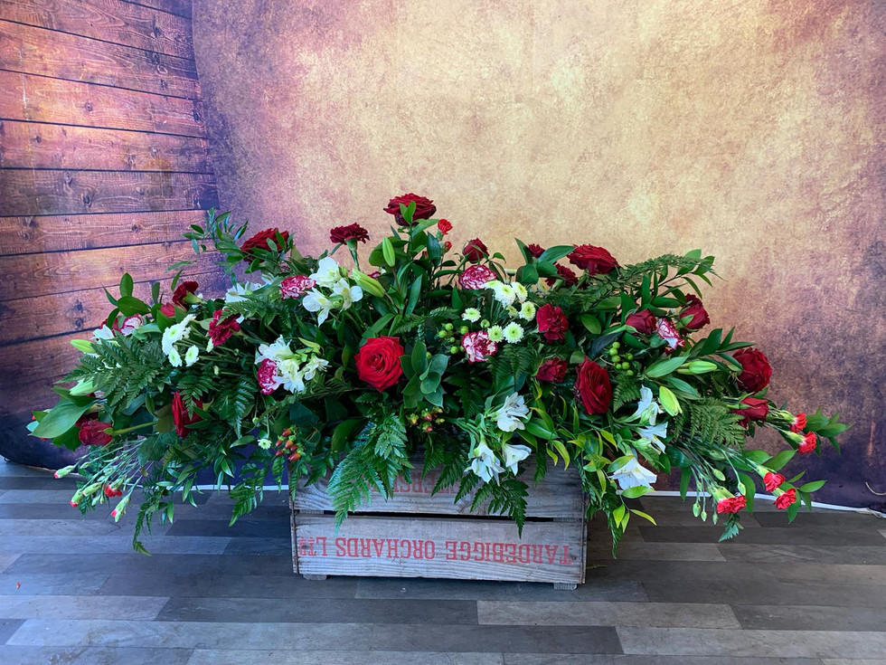 Double Ended Coffin Spray Funeral Flower Tribute Example 6.jpg