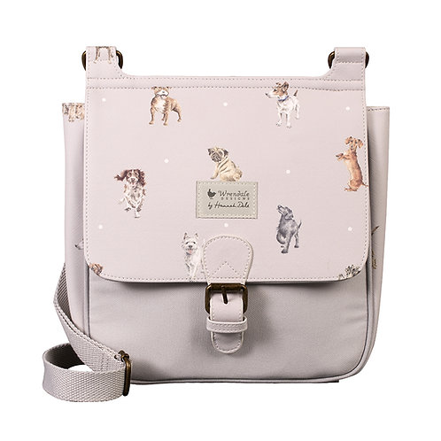 Wrendale Designs A Dog's Life satchel bag front view