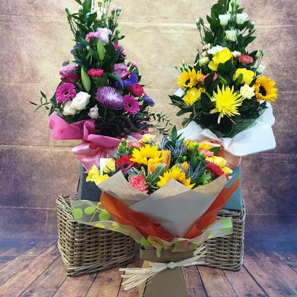 mixed aqua flower bouquets.jpg