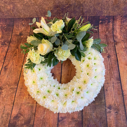 Funeral Wreaths, Hearts + Cushions 049