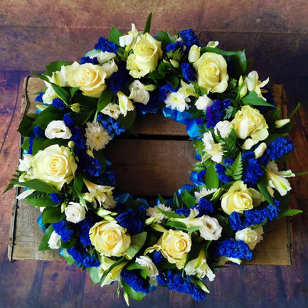 blue with white rose funeral wreath tribute.jpg