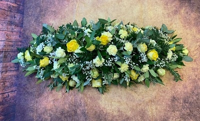 Double Ended Coffin Spray Funeral Flower Tribute Example 19.jpg