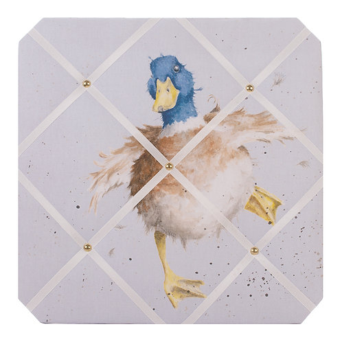 Wrendale Designs A Waddle and a Quack fabric notice board