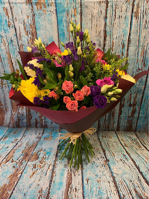 Hand-Tied Mixed Flower Bouquet