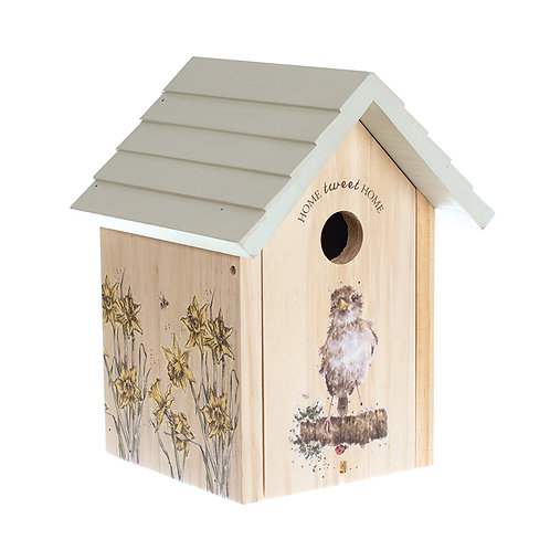 Wrendale Designs Sparrow Bird Box-Front