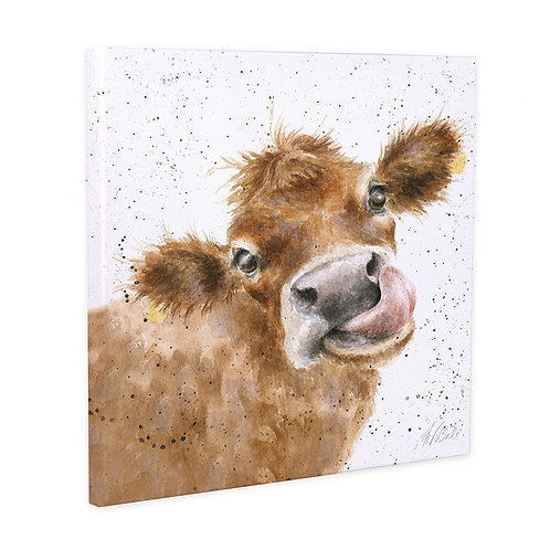 Mooo Canvas From Hannah Dale of Wrendale Designs