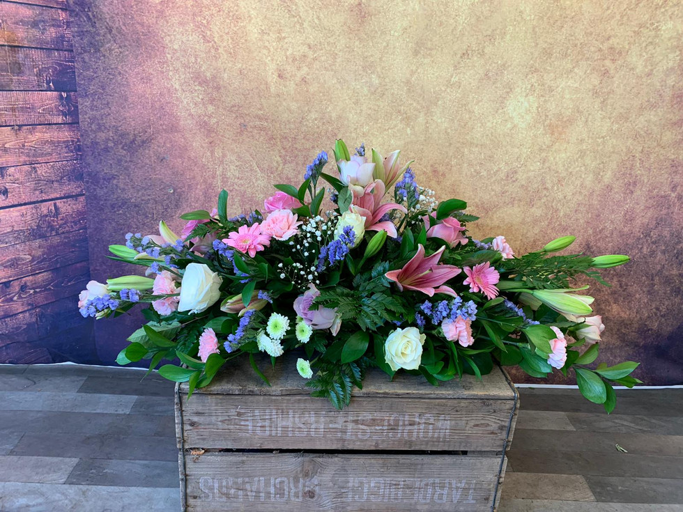 Double Ended Coffin Spray Funeral Flower Tribute Example 5.jpg